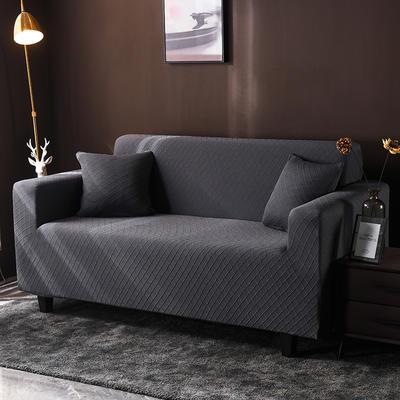 2020新款高端提花沙發套沙發墊沙發巾全包萬能套罩跨境電商專供 單人90-140cm 金提深灰
