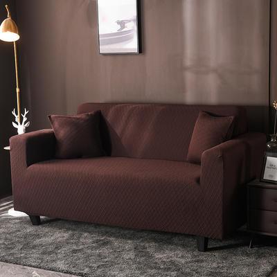 2020新款高端提花沙發套沙發墊沙發巾全包萬能套罩跨境電商專供 單人90-140cm 金提深咖