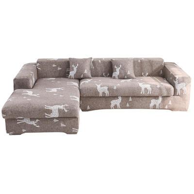 2020跨境外贸专供印花沙发套全包沙发套罩网红沙发套沙发垫套 单人90-140cm 钢铁麋鹿