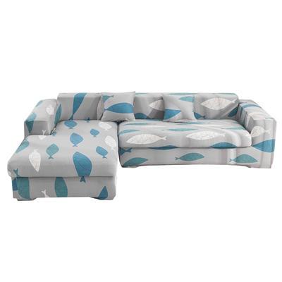 2020跨境外贸专供印花沙发套全包沙发套罩网红沙发套沙发垫套 单人90-140cm 海底世界