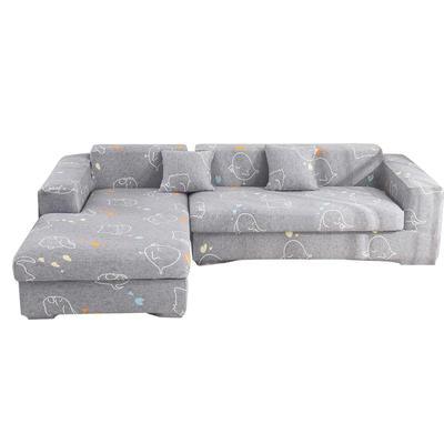 2020跨境外贸专供印花沙发套全包沙发套罩网红沙发套沙发垫套 单人90-140cm 可爱象仔