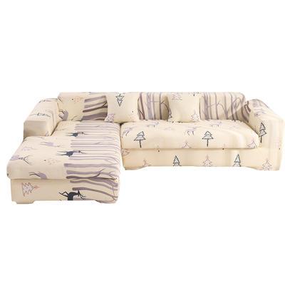 2020跨境外贸专供印花沙发套全包沙发套罩网红沙发套沙发垫套 单人90-140cm 时光麋鹿
