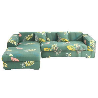 2020跨境外贸专供印花沙发套全包沙发套罩网红沙发套沙发垫套 单人90-140cm 幸运草