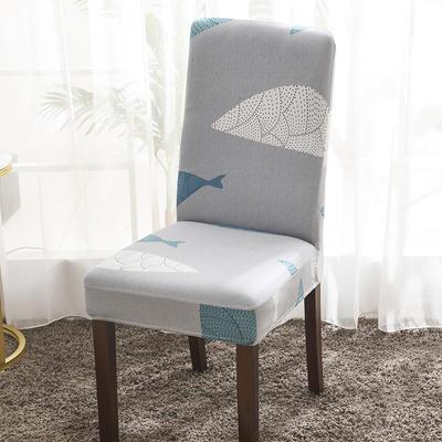 2020新款印花牛奶絲椅套彈力連體椅子套 海底世界