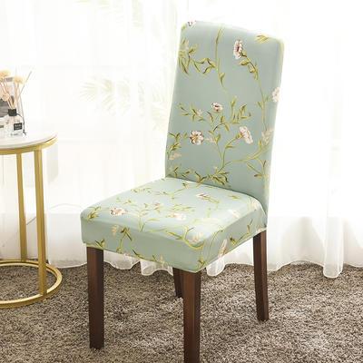 2020新款印花牛奶絲椅套彈力連體椅子套 花顏蜜語