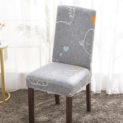 2020新款印花牛奶絲椅套彈力連體椅子套 可愛象仔