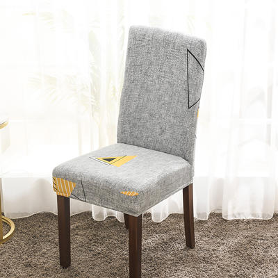 2020新款印花牛奶絲椅套彈力連體椅子套 時光隧道