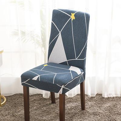 2020新款印花牛奶絲椅套彈力連體椅子套 未來密碼