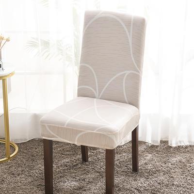 2020新款印花牛奶絲椅套彈力連體椅子套 宇宙電波