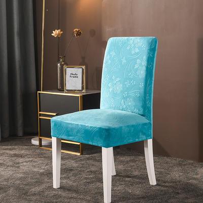 2020款韩国水晶绒加厚椅套弹力连体沙发套 跨境外贸专供 湖蓝-水晶绒