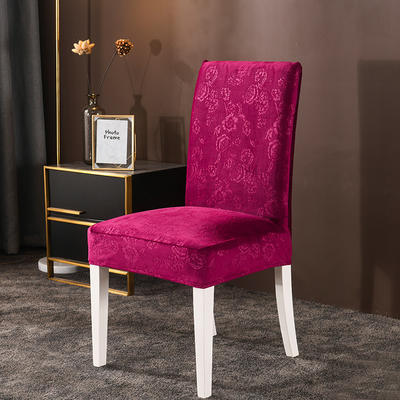 2020款韩国水晶绒加厚椅套弹力连体沙发套 跨境外贸专供 经典红-水晶绒