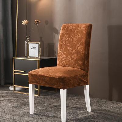 2020款韩国水晶绒加厚椅套弹力连体沙发套 跨境外贸专供 咖啡色-水晶绒