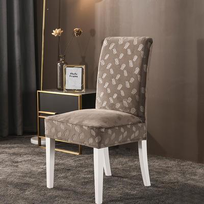 2020款韩国水晶绒加厚椅套弹力连体沙发套 跨境外贸专供 卡布奇诺-水晶绒