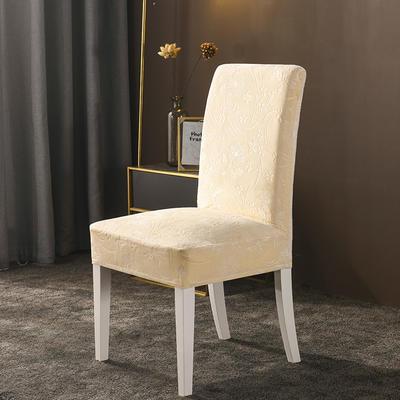 2020款韩国水晶绒加厚椅套弹力连体沙发套 跨境外贸专供 米黄-水晶绒