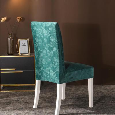 2020款韩国水晶绒加厚椅套弹力连体沙发套 跨境外贸专供 墨绿-水晶绒