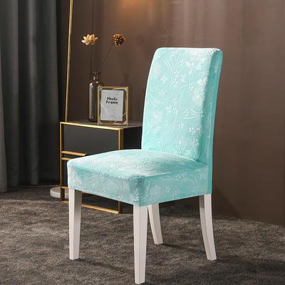 2020款韩国水晶绒加厚椅套弹力连体沙发套 跨境外贸专供 浅蓝-水晶绒