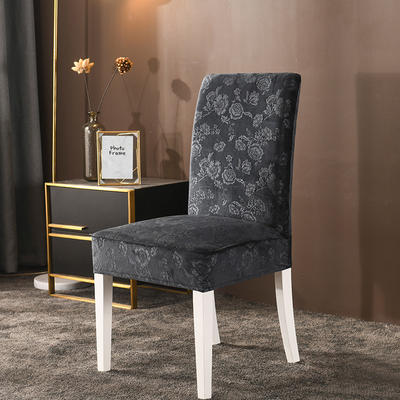 2020款韩国水晶绒加厚椅套弹力连体沙发套 跨境外贸专供 烟灰-水晶绒