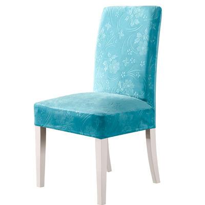 2020款韩国水晶绒加厚椅套弹力 跨境外贸专供 湖蓝-水晶绒