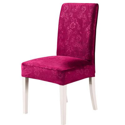 2020款韩国水晶绒加厚椅套弹力 跨境外贸专供 经典红-水晶绒