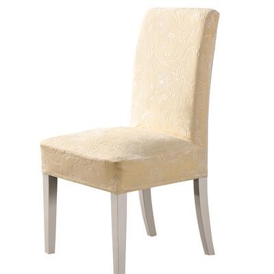 2020款韩国水晶绒加厚椅套弹力 跨境外贸专供 米黄-水晶绒