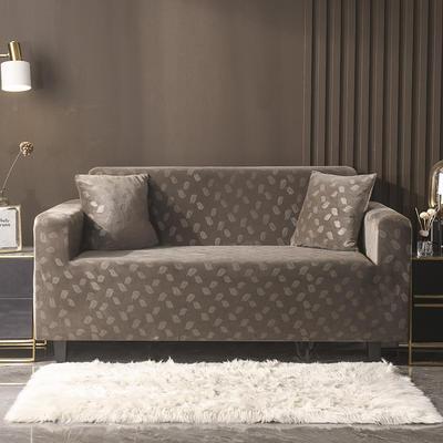 2020新款韩国水晶绒雕花加厚沙发套 单人90-140cm 卡布奇诺水晶绒