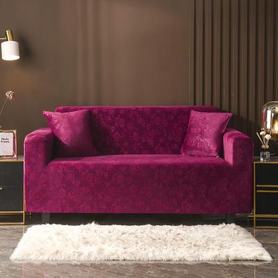 2020新款韩国水晶绒雕花加厚沙发套 单人90-140cm 经典红水晶绒