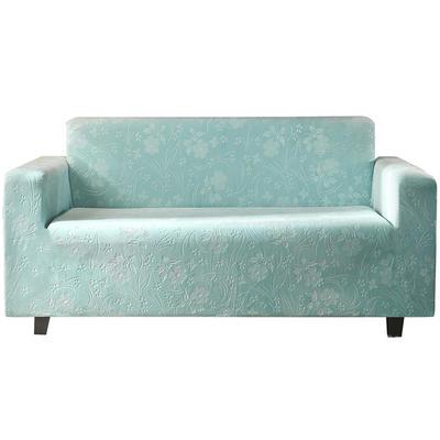 2020新款韩国水晶绒雕花加厚沙发套跨境外贸专供 单人90-140cm 浅蓝水晶绒