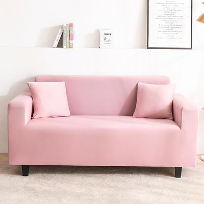 2020新品印花沙發套全包沙發套罩網紅沙發套 單人90-140cm 純色-青春粉