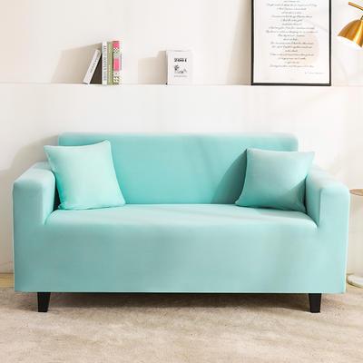 2020新品印花沙發套全包沙發套罩網紅沙發套 單人90-140cm 純色-天空藍