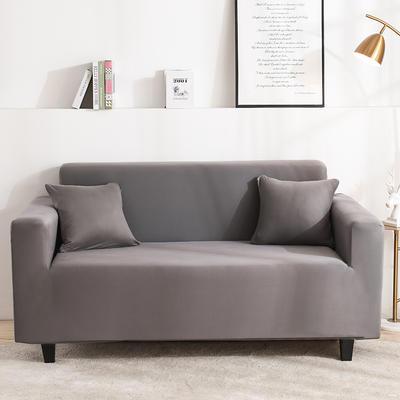 2020新品印花沙發套全包沙發套罩網紅沙發套 單人90-140cm 純色-銀灰
