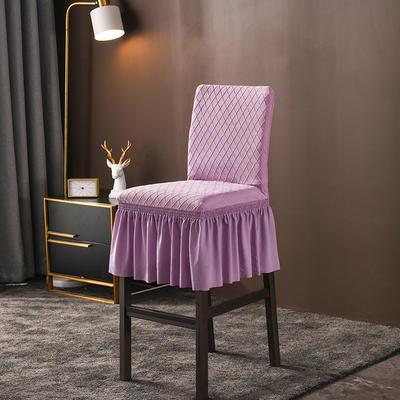 2020新款酒吧高腳連體椅子套金針提花裙擺款椅套彈力 金提紫酒吧椅套