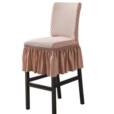 2020新款酒吧高腳連體椅子套金針提花裙擺款椅套彈力跨境供貨 金提駝酒吧椅套