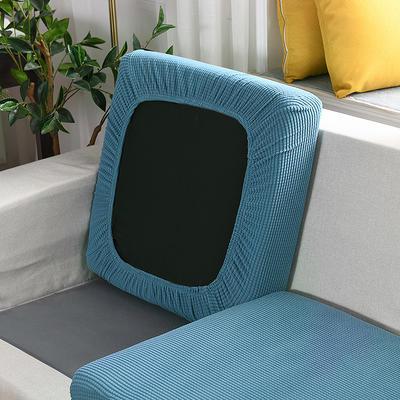 20201款-玉米粒沙发坐垫套懒人沙发罩摇粒绒沙发笠沙发套罩 单人标准:适用于宽 50-70cm*长5 西湖蓝(沙发笠)