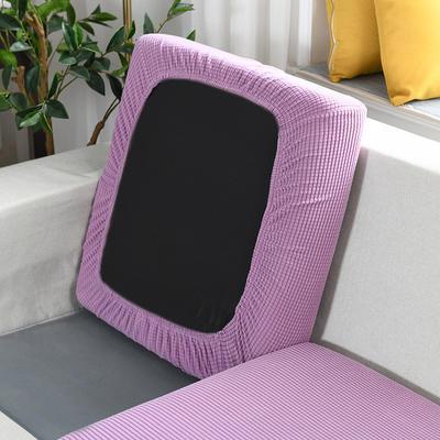 20201款-玉米粒沙发坐垫套懒人沙发罩摇粒绒沙发笠沙发套罩 单人标准:适用于宽 50-70cm*长5 月亮紫(沙发笠)