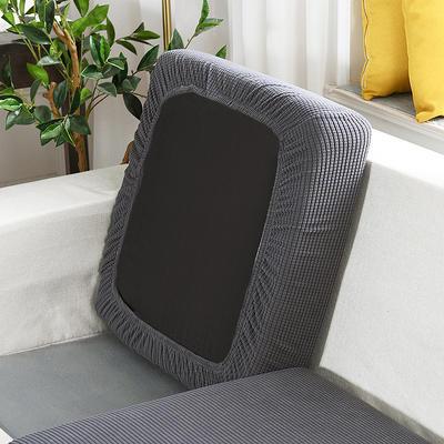 20201款-玉米粒沙发坐垫套懒人沙发罩摇粒绒沙发笠沙发套罩 单人标准:适用于宽 50-70cm*长5 中东灰(沙发笠)