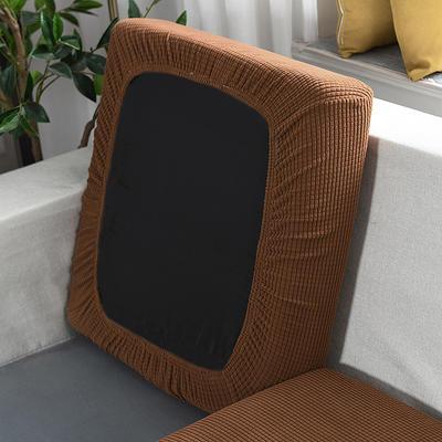 20201款-玉米粒沙发坐垫套懒人沙发罩摇粒绒沙发笠沙发套罩 单人标准:适用于宽 50-70cm*长5 棕树黄(沙发笠)