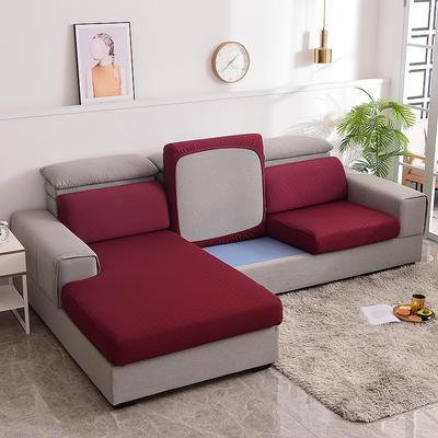 2021款金针提花沙发笠坐垫套全包万能套沙发套沙发垫沙发布套 单人标准:适用于宽 50-70cm*长50-70cm*高5- 金提红(沙发笠)
