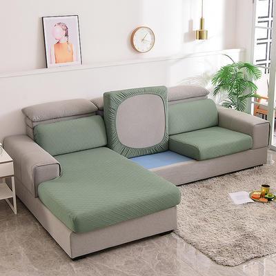 2021款金针提花沙发笠坐垫套全包万能套沙发套沙发垫沙发布套 单人标准:适用于宽 50-70cm*长50-70cm*高5- 金提绿(沙发笠)