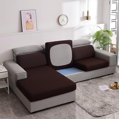 2021款金针提花沙发笠坐垫套全包万能套沙发套沙发垫沙发布套 单人标准:适用于宽 50-70cm*长50-70cm*高5- 金提深咖(沙发笠)