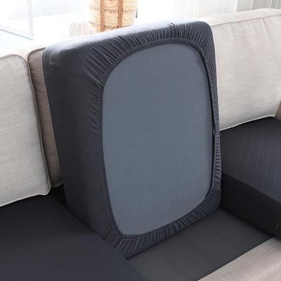 全包万能套纯色简约懒人沙发罩沙发笠组合金针提花 单人标准:适用于宽 50-70cm*长5 金提深灰(沙发笠)