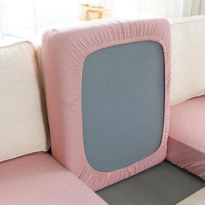 全包万能套纯色简约懒人沙发罩沙发笠组合金针提花 单人标准:适用于宽 50-70cm*长5 金提粉(沙发笠)