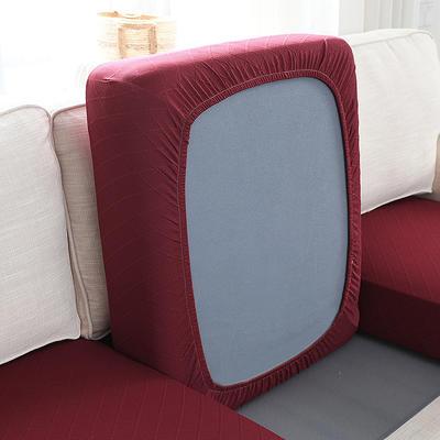 全包万能套纯色简约懒人沙发罩沙发笠组合金针提花 单人标准:适用于宽 50-70cm*长5 金提红(沙发笠)