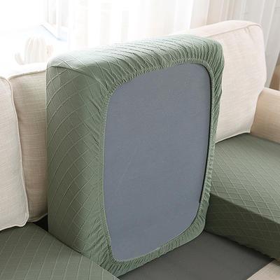 全包万能套纯色简约懒人沙发罩沙发笠组合金针提花 单人标准:适用于宽 50-70cm*长5 金提绿(沙发笠)
