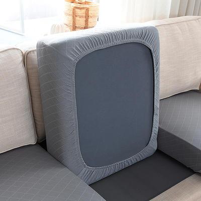 全包万能套纯色简约懒人沙发罩沙发笠组合金针提花 单人标准:适用于宽 50-70cm*长5 金提浅灰(沙发笠)