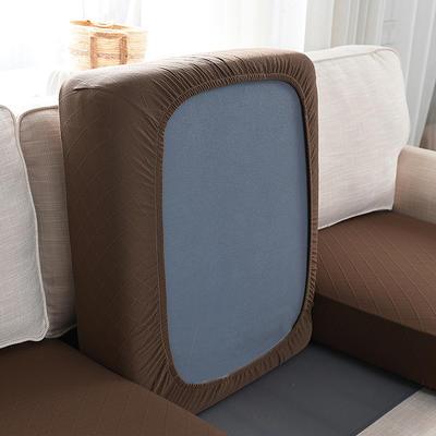 全包万能套纯色简约懒人沙发罩沙发笠组合金针提花 单人标准:适用于宽 50-70cm*长5 金提浅咖(沙发笠)