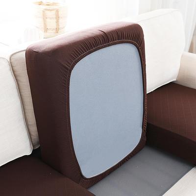 全包万能套纯色简约懒人沙发罩沙发笠组合金针提花 单人标准:适用于宽 50-70cm*长5 金提深咖(沙发笠)