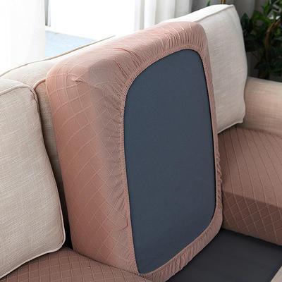 全包万能套纯色简约懒人沙发罩沙发笠组合金针提花 单人标准:适用于宽 50-70cm*长5 金提驼(沙发笠)