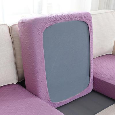 全包万能套纯色简约懒人沙发罩沙发笠组合金针提花 单人标准:适用于宽 50-70cm*长5 金提紫(沙发笠)