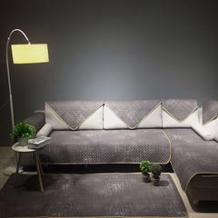 简约系列全棉沙发垫 70*70cm 慢未来(咖)