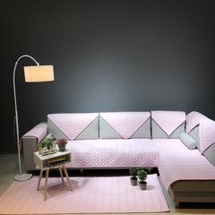纯色款全棉沙发垫 70*180cm 简易生活(粉)